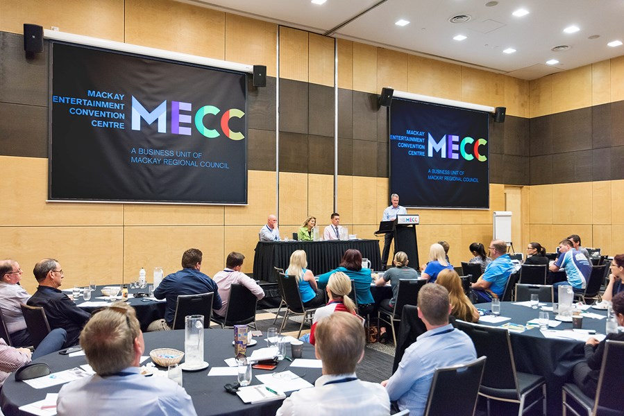 Mackay Entertainment and Convention Centre (MECC) incorporates 9 separate venue spaces, including plenary halls and flexible breakout spaces.
